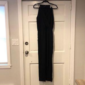 AQUA Black Spaghetti Strap Pants Jumpsuit S